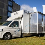 The Burkert Roadshow bus touring uk