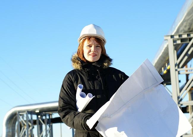 female engineer_building site