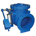 Weight and lever check valve