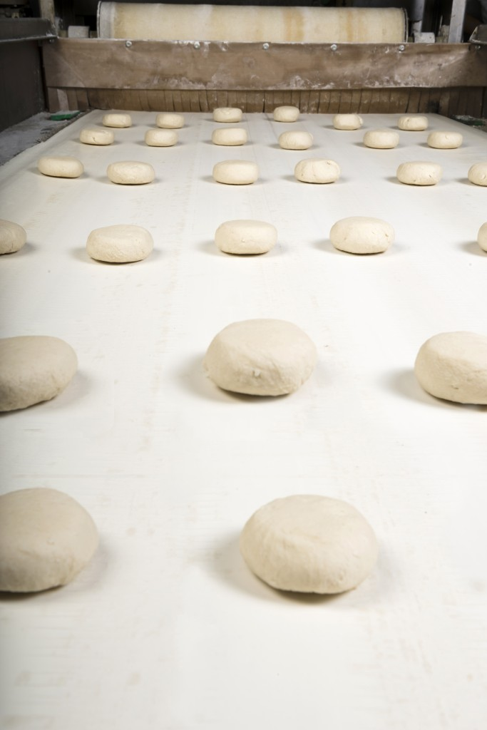 Production line in the bakery