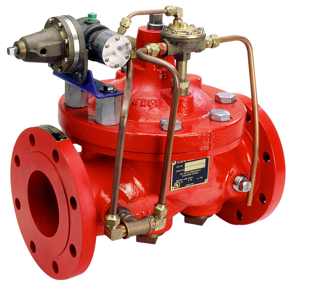 How does a deluge valve work