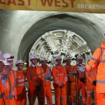 Completion of London Crossrail's gargantuan tunnels