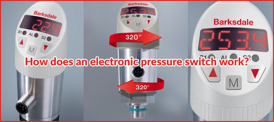 How does an electronic pressure switch work