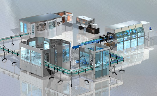 Bottling and packaging plant