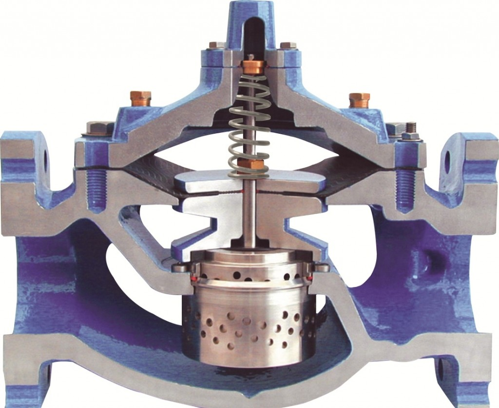 Control valve with anti-cavitation trim rss
