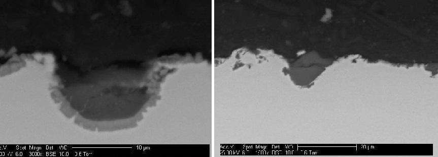 Erosion testing images