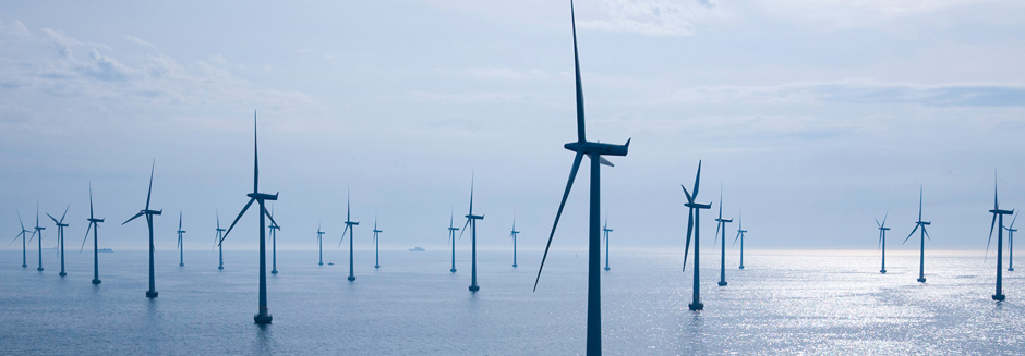 Water slam offshore windfarm