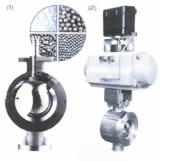 Ball sector valve with excellent control
