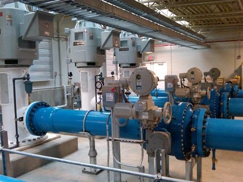 Ball valves water treatment plant