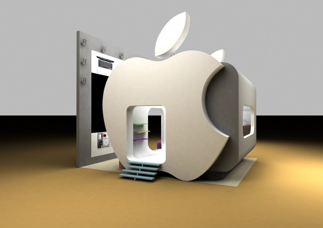 Apple exhibition stand