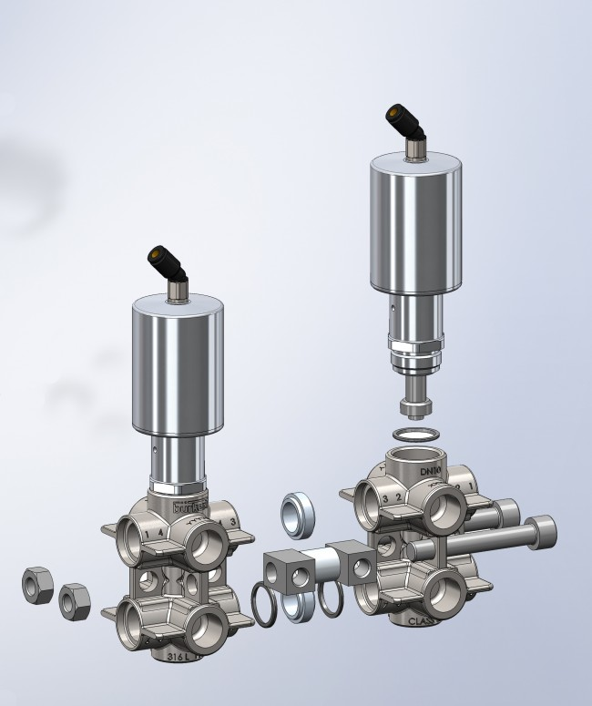 Burkert_Modular valve head for reduced leak paths