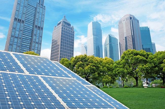 Ecological energy renewable solar panel plant