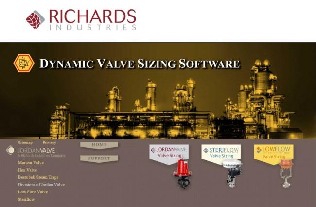 Valve Sizing software