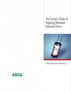 Asco Miniature Solenoid Valve White Paper