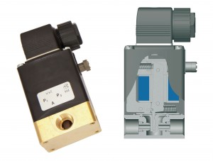 Pivoted armature solenoid valve