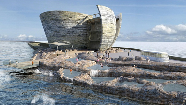 An image of the plans for the World's first lagoon power plant in the UK
