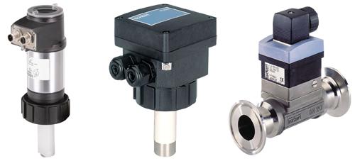 Three different Burkert flow sensors