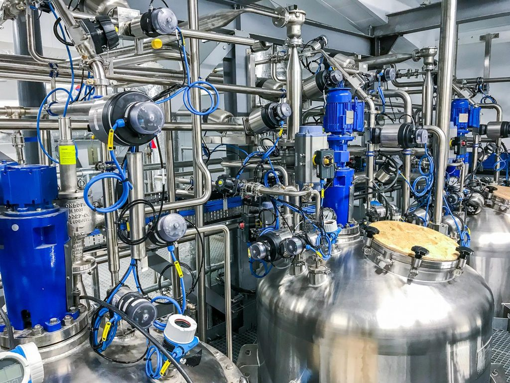 Bürkert's expertise in hygienic process control projects
