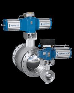 SOMAS ball segment valves